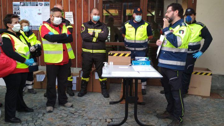 Consegna mascherine Regione Piemonte nel Comune di Lanzo