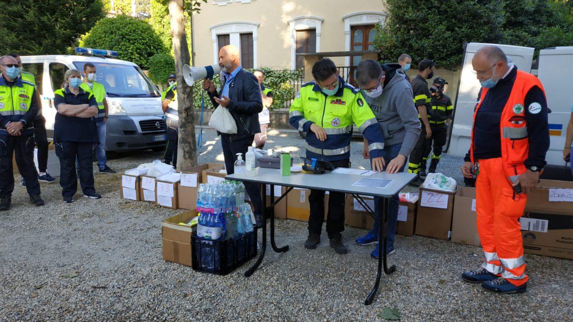Consegna mascherine della Regione Piemonte a Ciriè