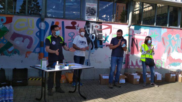 Consegna mascherine della Regione Piemonte a Nole